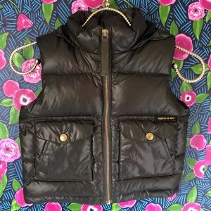 Finger In The Nose Boys Down Puffer Vest Green